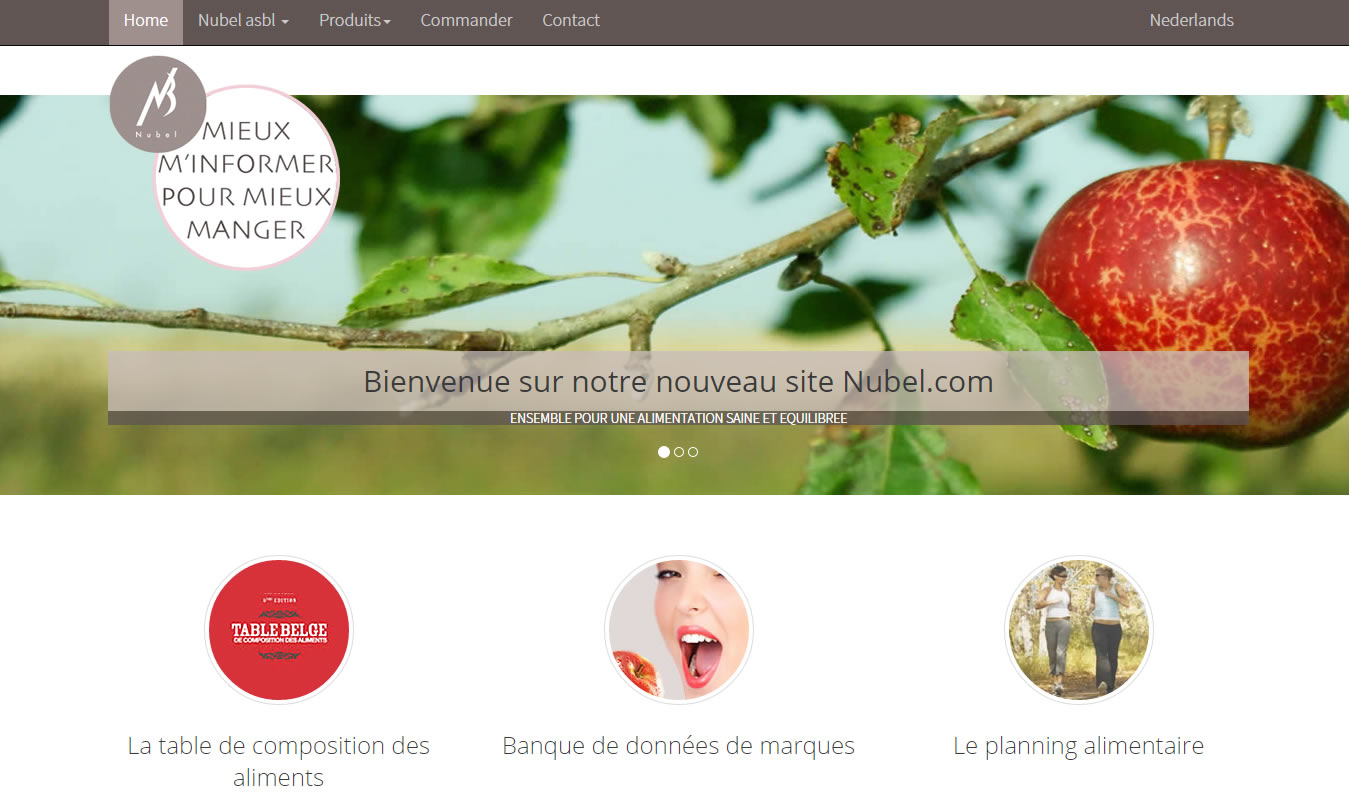 le Planning alimentaire 2010 Nubel