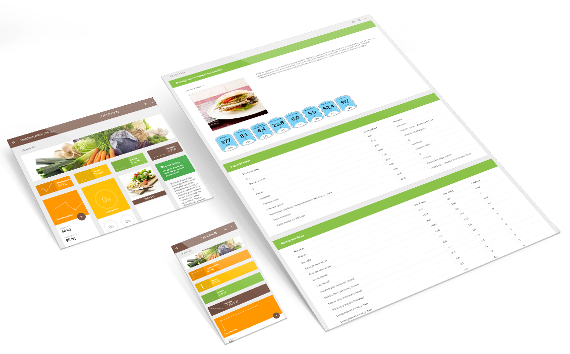The Nubel Foodplanner available on tablet, smartphone and PC!